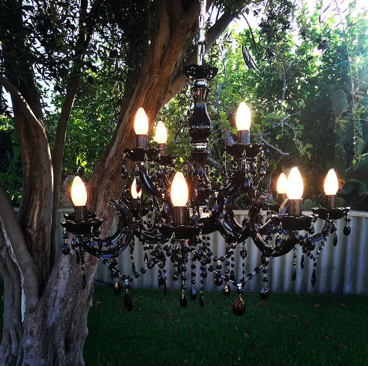 To The Dark Side - Black Chandelier for hire