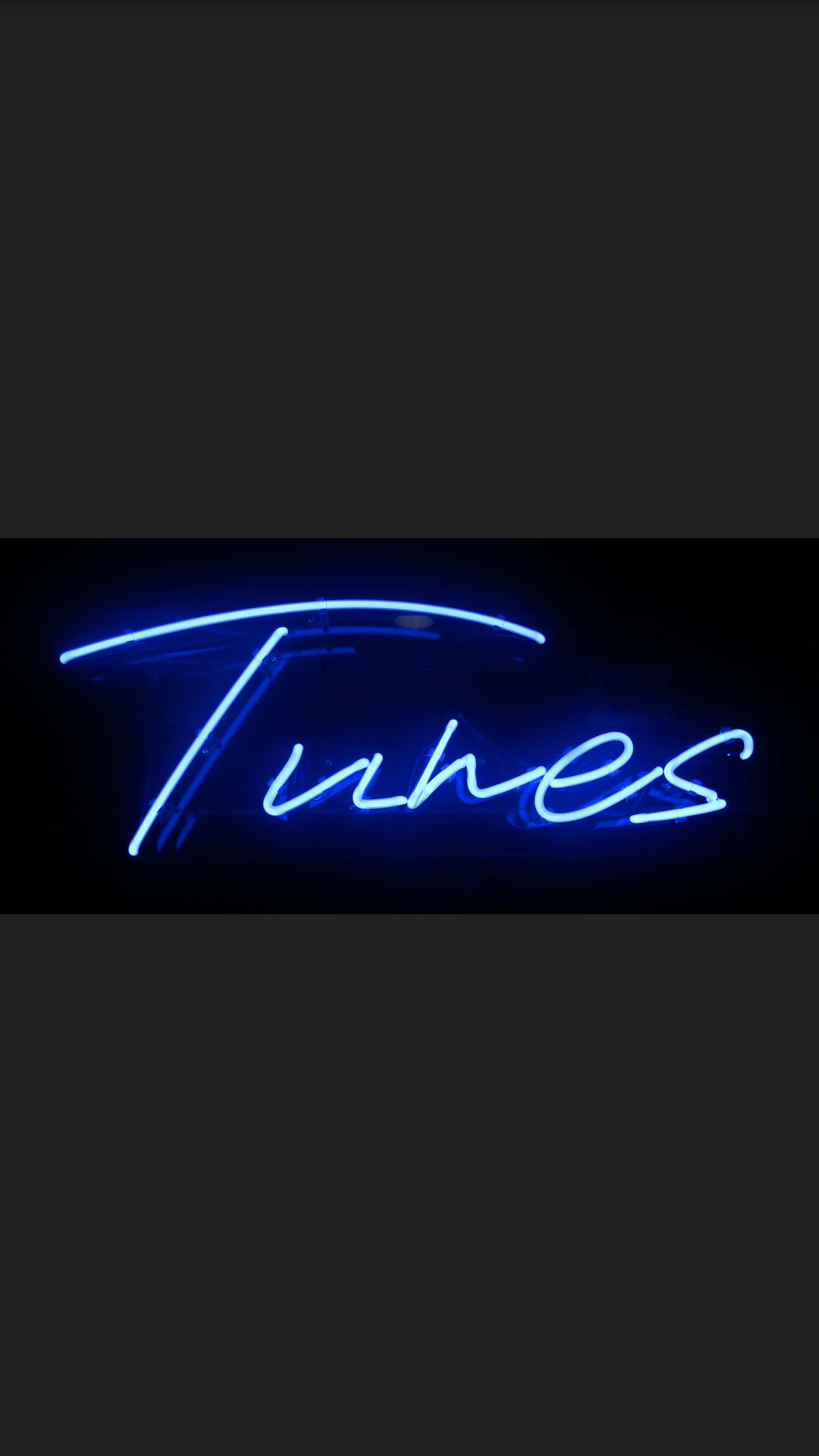 Tunes Neon Sign - 1m long x 300mm wide