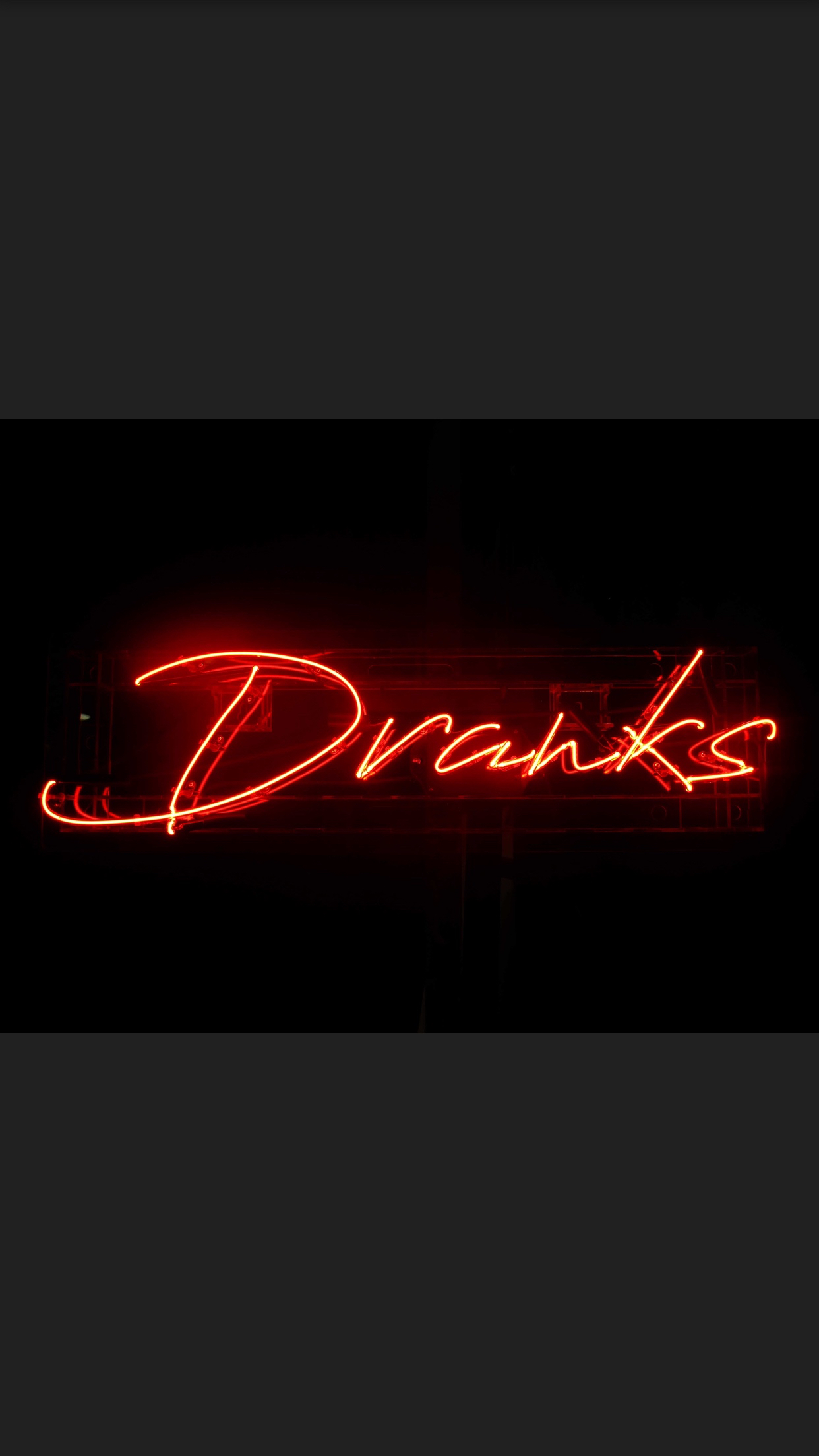 Dranks Neon Sign - 1m long x 300mm wide