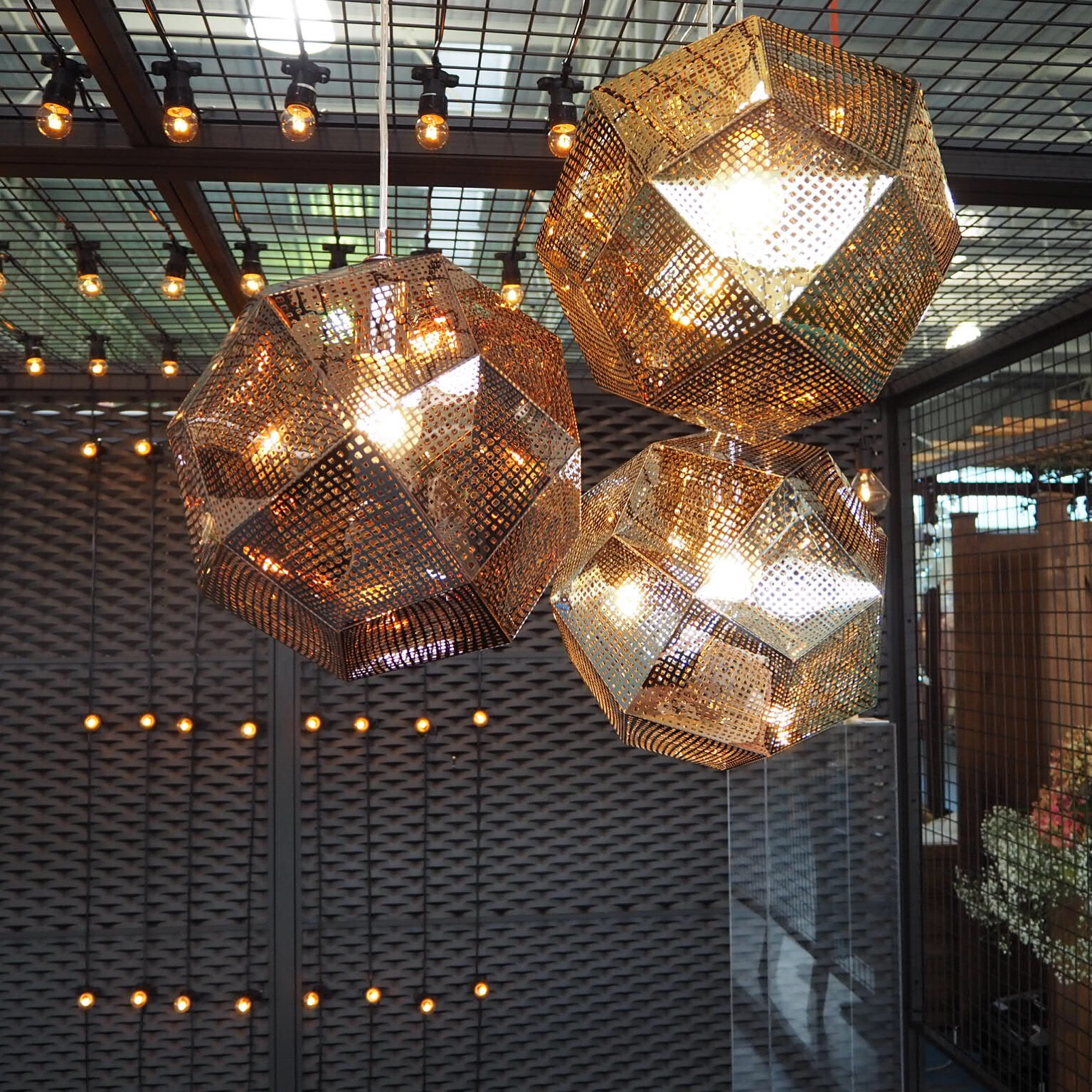 Shiny Disco Ball Pendants (Copper, Gold & Silver) - two sizes available